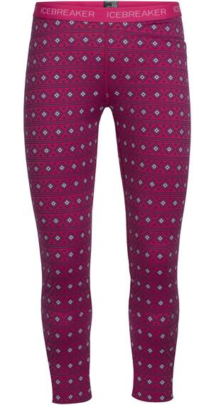 Icebreaker Kids Oasis Legging Allign Pop Pink/Snow/White